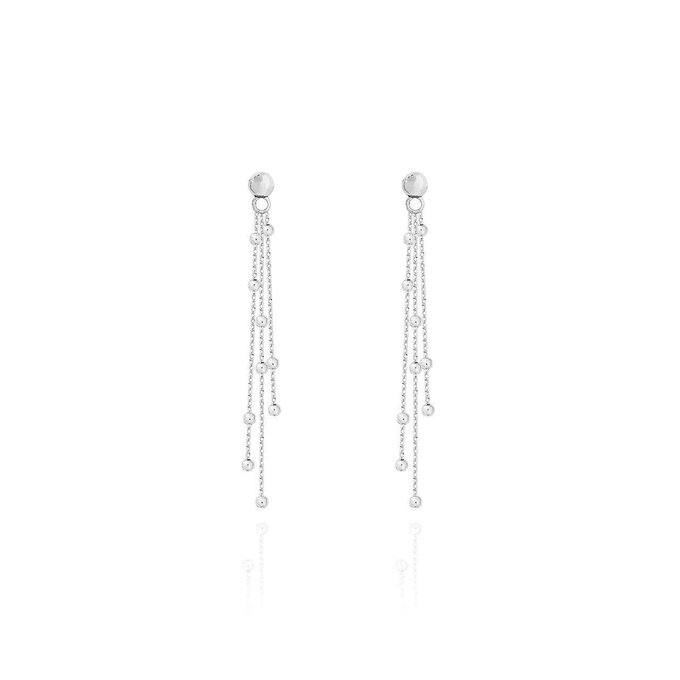 Alisa Silver Multi Chain Earrings
