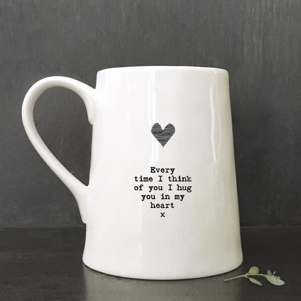Heart/Every time Porcelain Mug