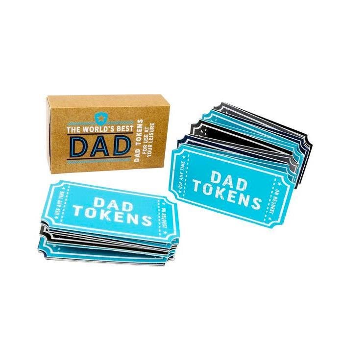 Worlds Best Dad Redeemable Tokens | Set of 20