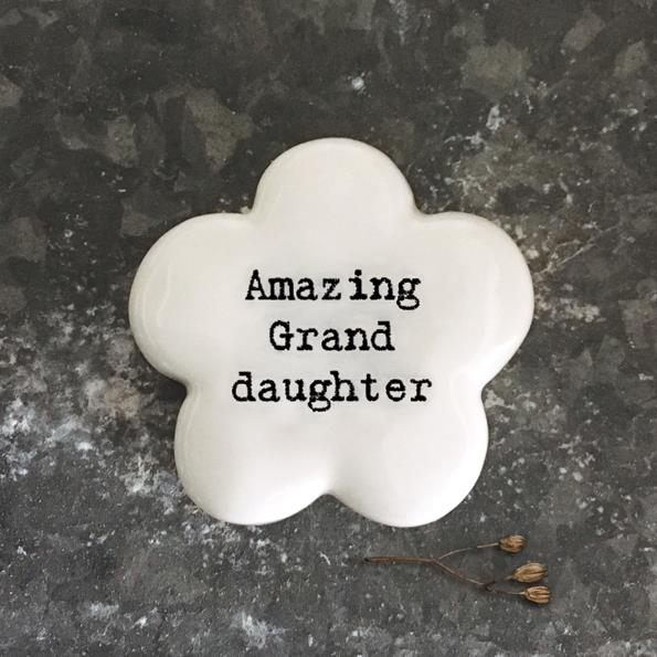 Amazing Granddaughter Flower Token