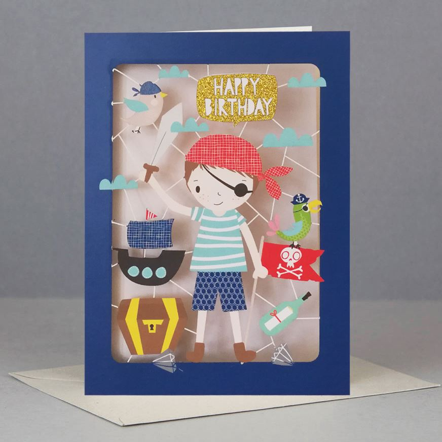 Pirate Kids Birthday Card