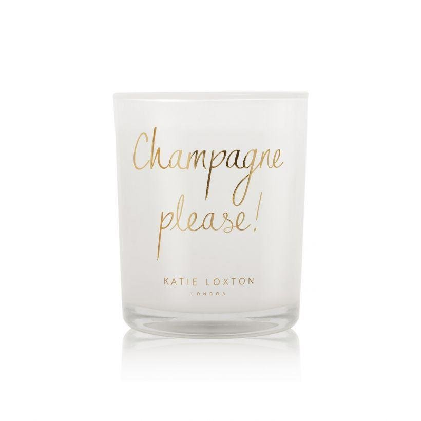 Champagne Please Metallic Candle