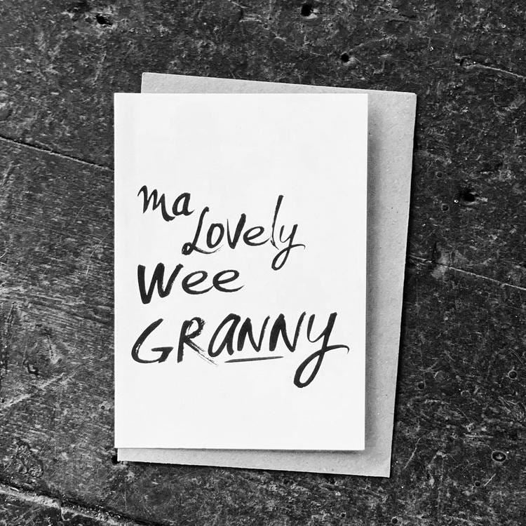 Wee Lovely Granny Card