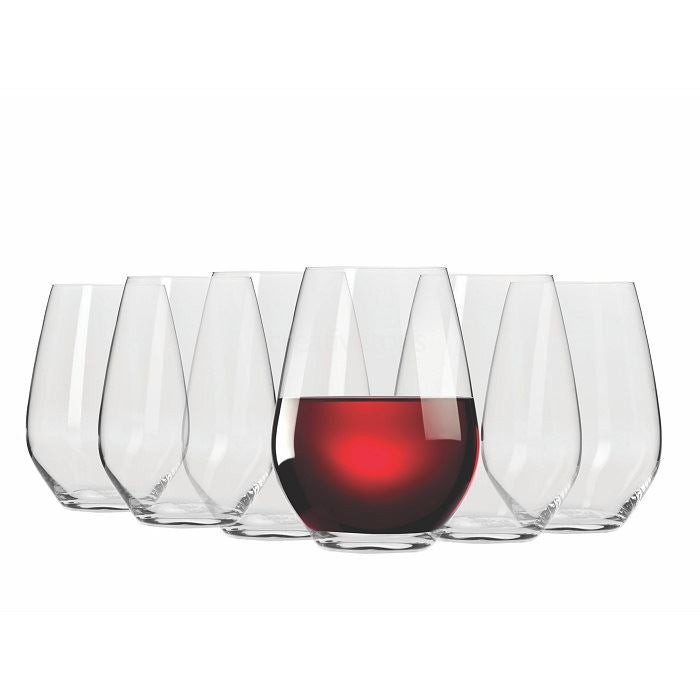 Stemless Red Wine Glasses Set of 6