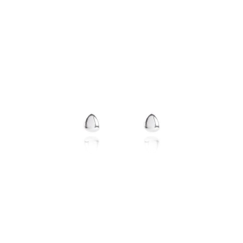 Pretty Pebbles Silver Studs Earrings