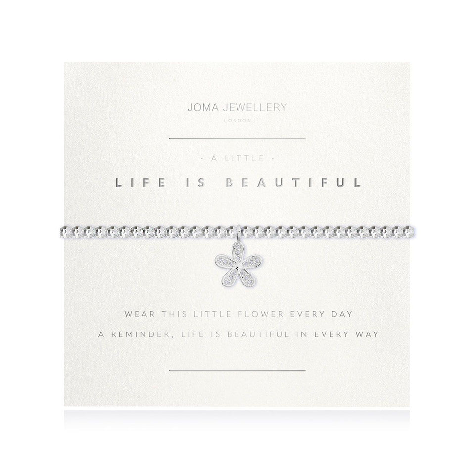A Little Life Is Beautiful Facetted Bracelet