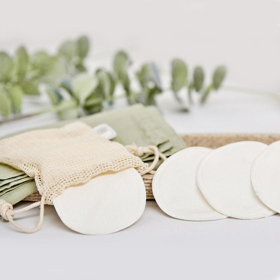 Clean & Green Bamboo Make Up Removing Pads In Pouch