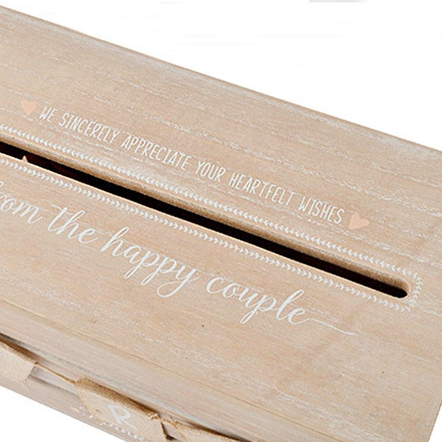 Wooden Wedding Card Box