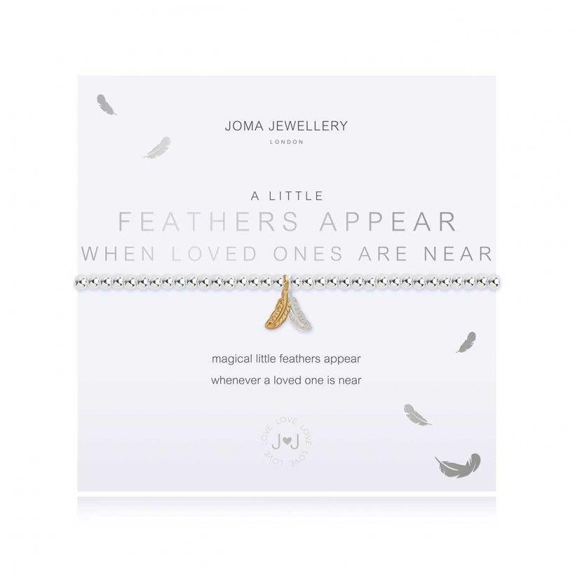A little Feathers Appear Charm Bracelet