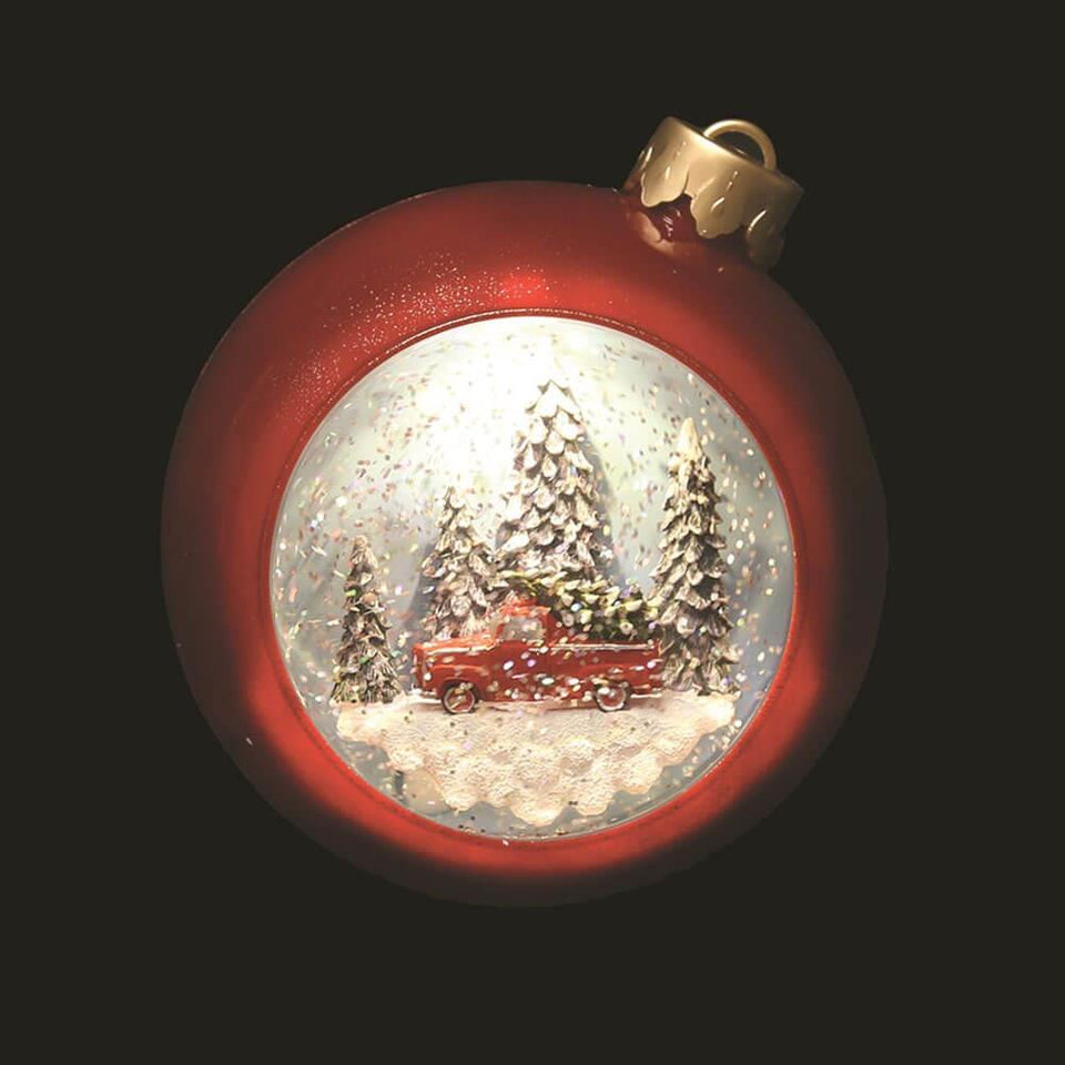 Christmas Bauble LED Light Water Spinner Assorted Designs