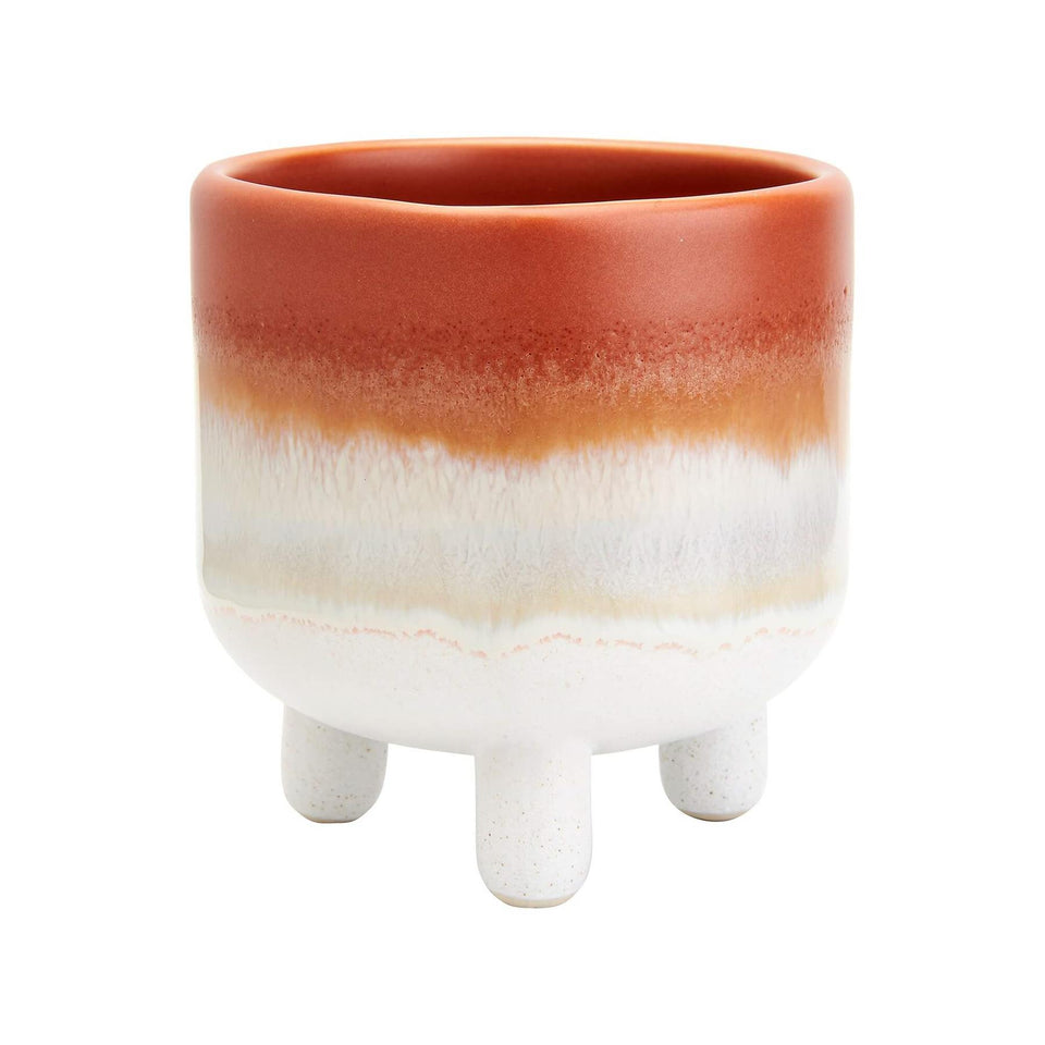 Mojave Glaze Brown Ombre Mini Planter