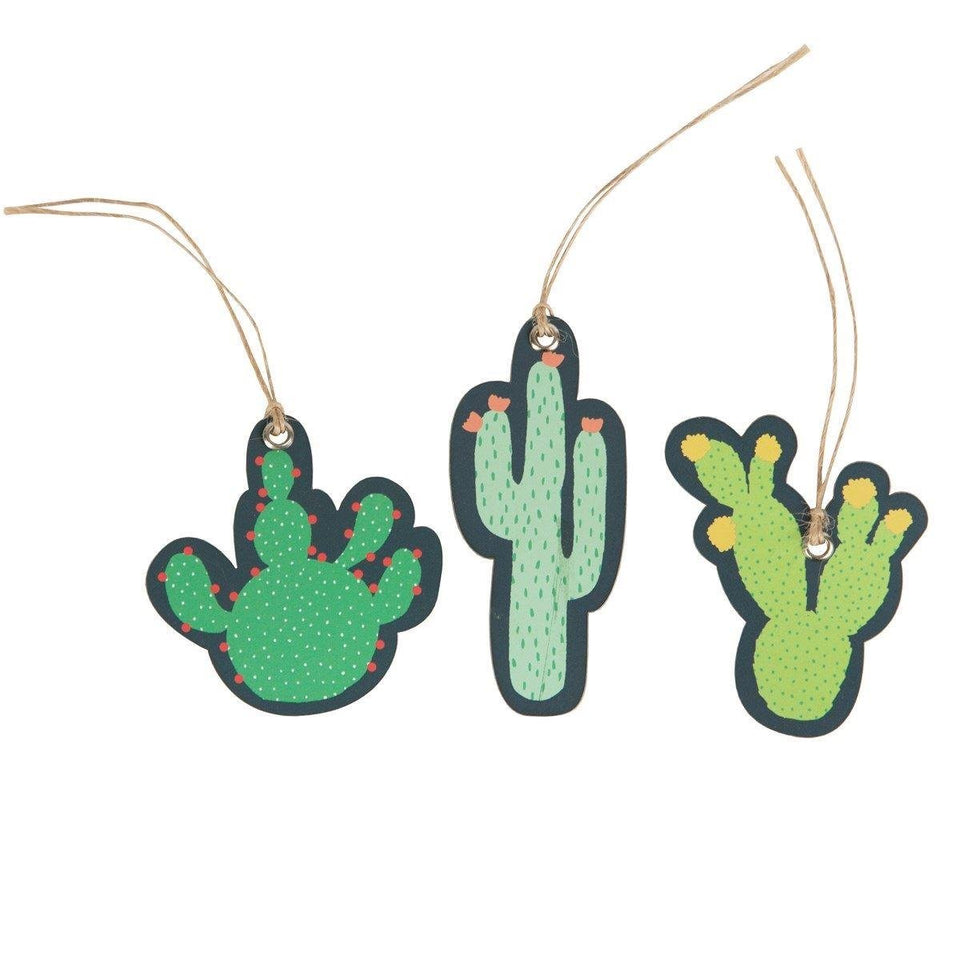 Colourful Cactus Gift Tag Set