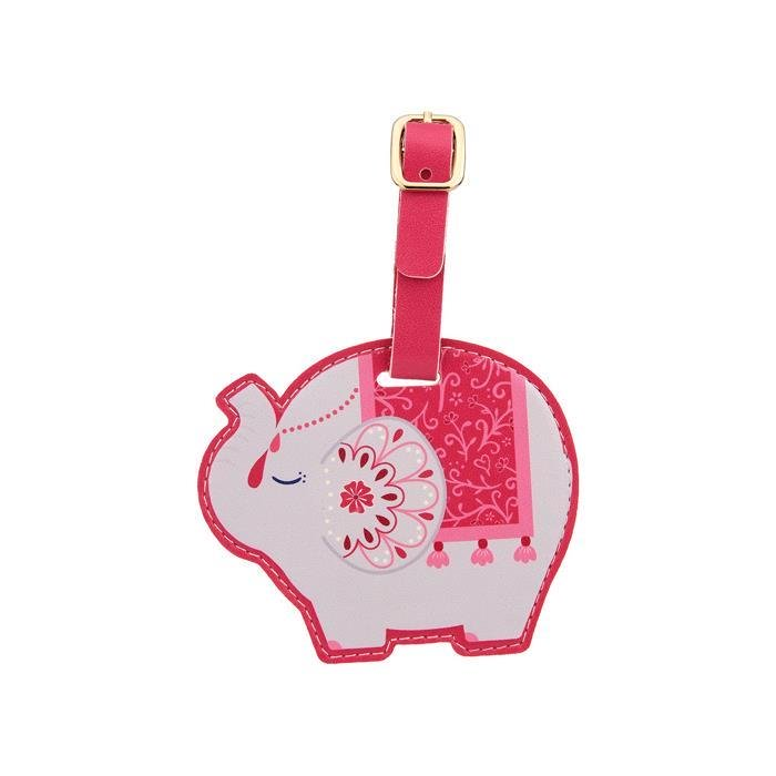 Mandala Elephant Luggage Tag