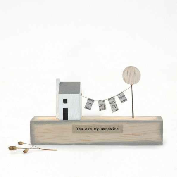 My Sunshine House With Line Wooden Scene Decoration