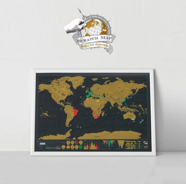 Large Scratch Map Deluxe