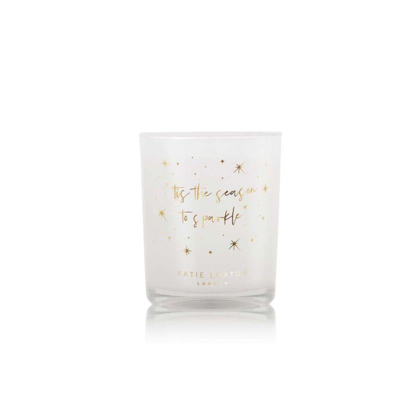 Season To Sparkle Silver Shimmer Votive Candle