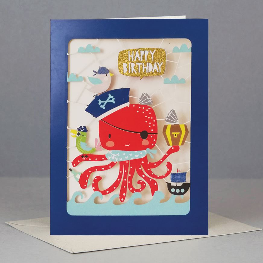 Octopus Kids Birthday Card
