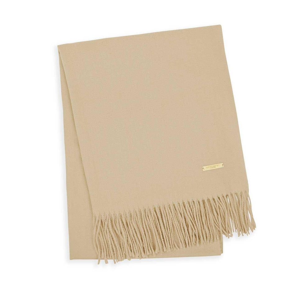 Thick Plain Caramel Scarf