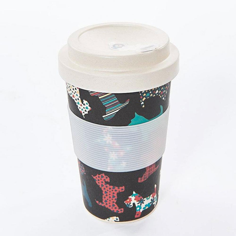 Scottie Dogs Bamboo Travel Mug