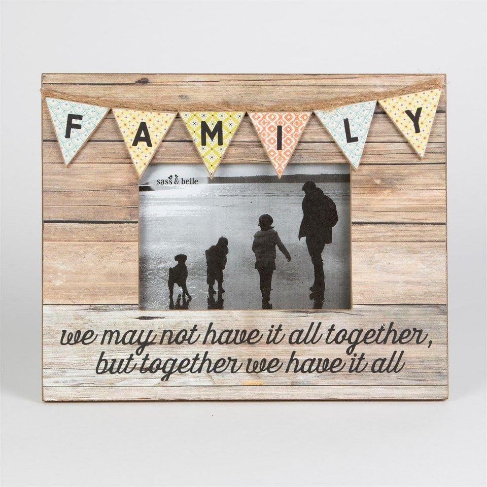 Family Photo Frame | Rustic Bunting