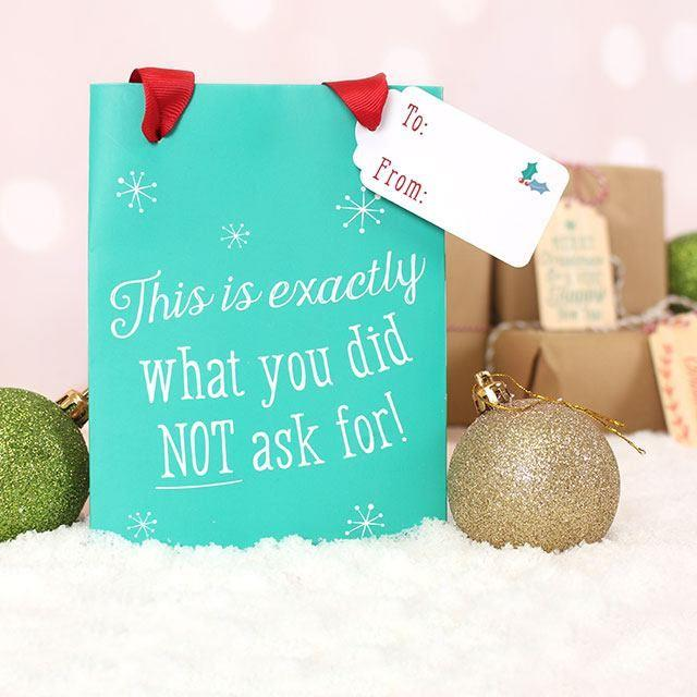 Turquoise Green Christmas Gift Bag