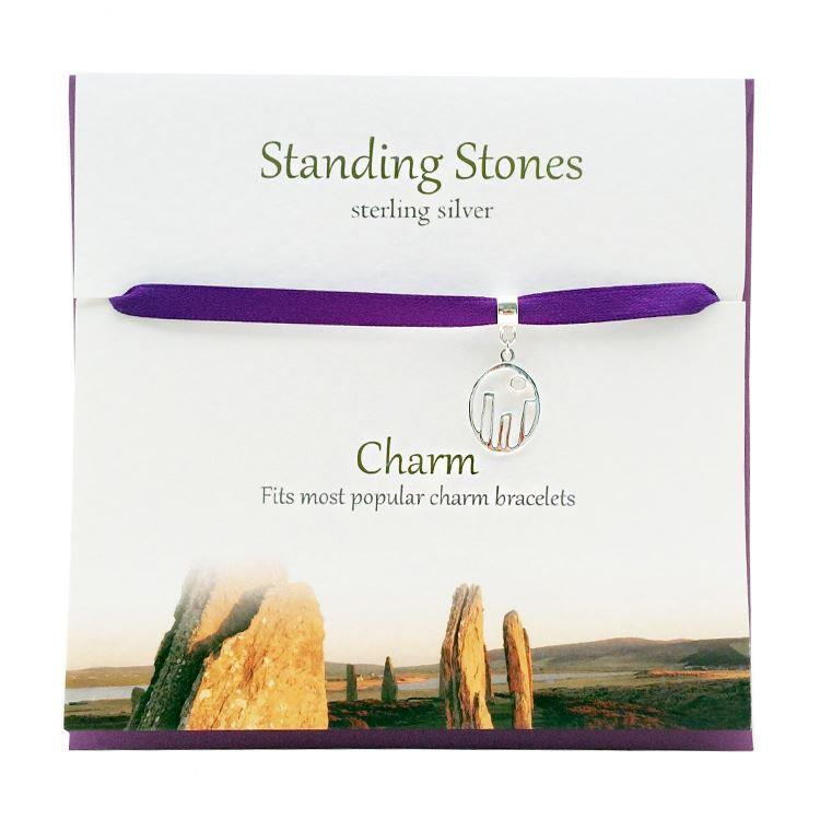 Silver Standing Stones Charm