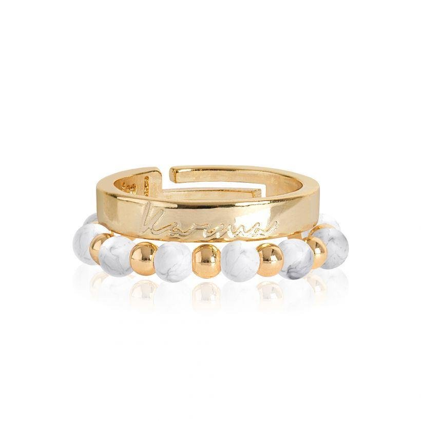 Yellow Gold Karma Stacking Rings | Signature Stones