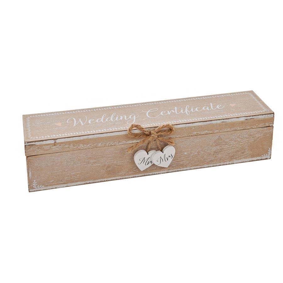 Wooden Wedding Certificate Box