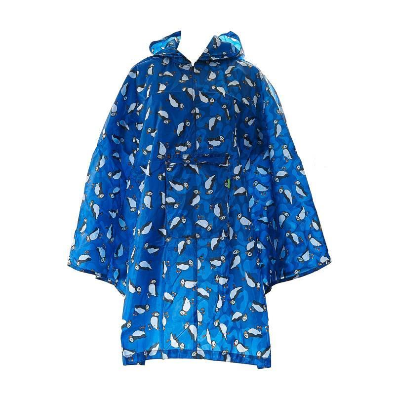 Puffin Foldable Poncho Jacket