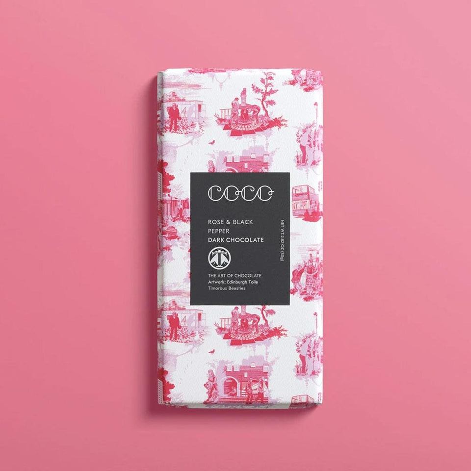 Rose and Black Pepper Chocolate Bar