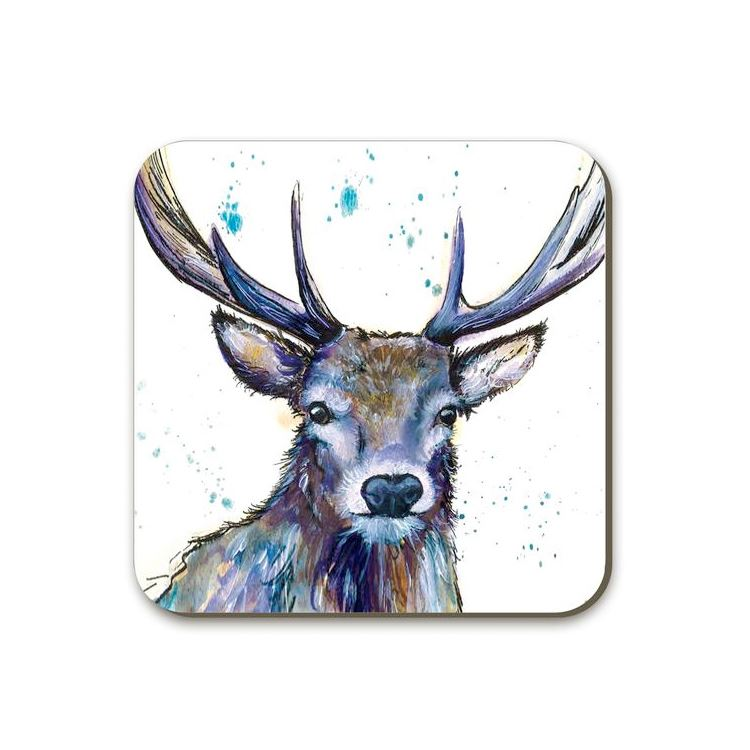Brown Splatter Hart Stag Coaster