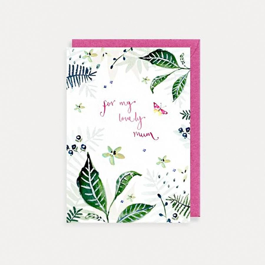 Lovely Mum Foliage Card