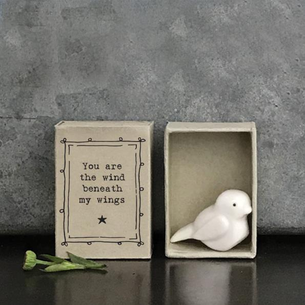 Porcelain Bird in Matchbox