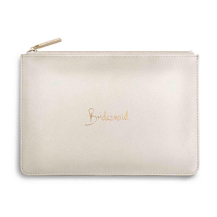 Bridesmaid Metallic White Clutch | Perfect Pouch