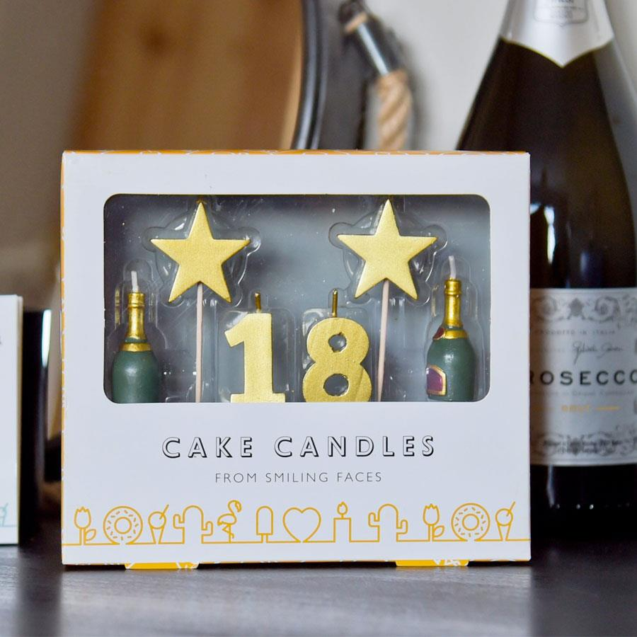 18 Cake Topper Candle Set