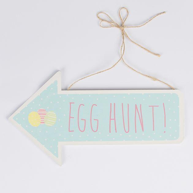 Easter Hunt Arrow Sign