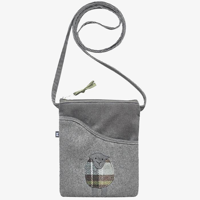 Grey Sheep Applique Sling Bag