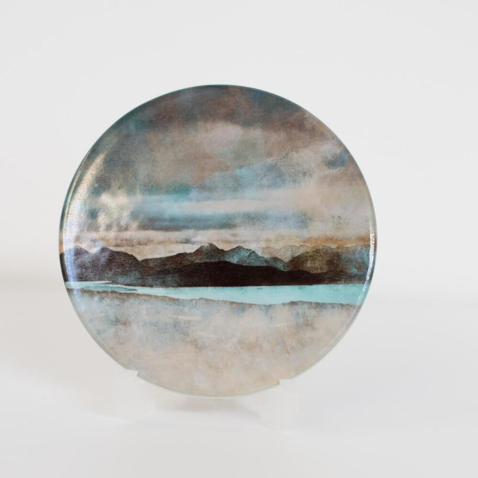Skye from Bealach Round Ceramic Coaster with Box