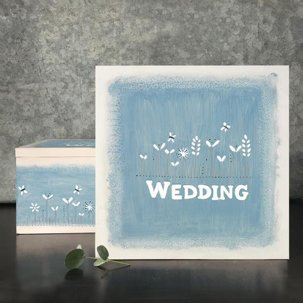 Wedding Memory Blue Keepsake Box
