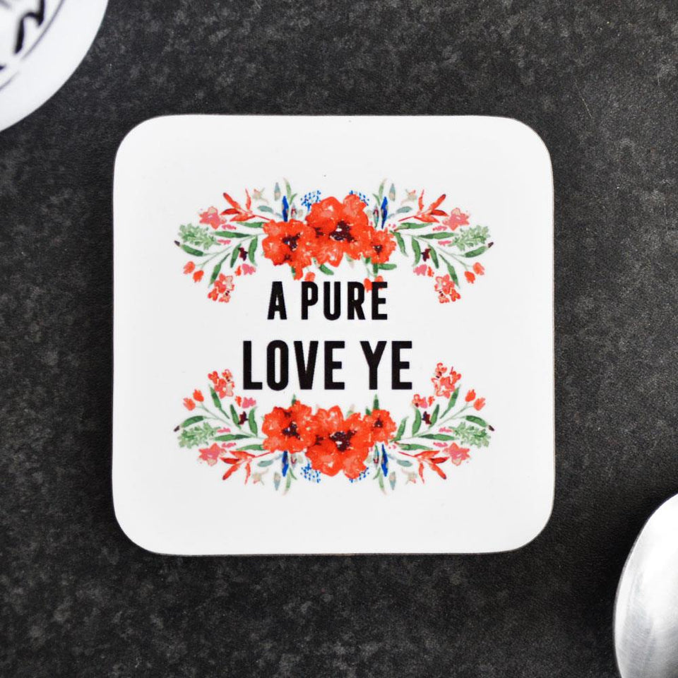 Pure Love Ye Floral Coaster