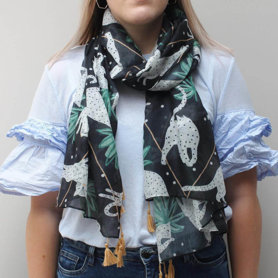 Feline Cat Soft Scarf