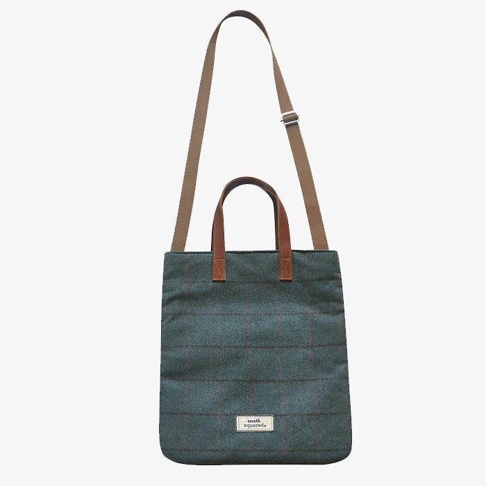 Heritage Tweed Harriet Messenger Tote Bag | Steel Blue