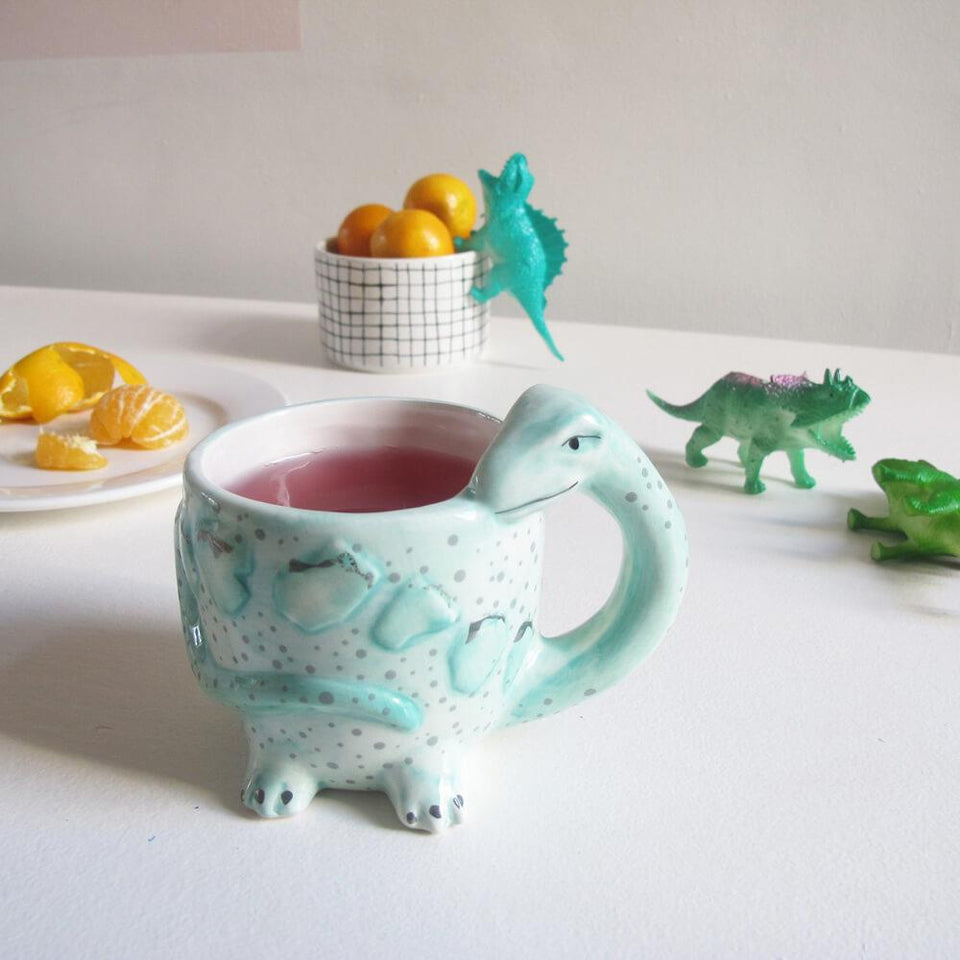 Diplodocus Shaped Ceramic Cup Mug