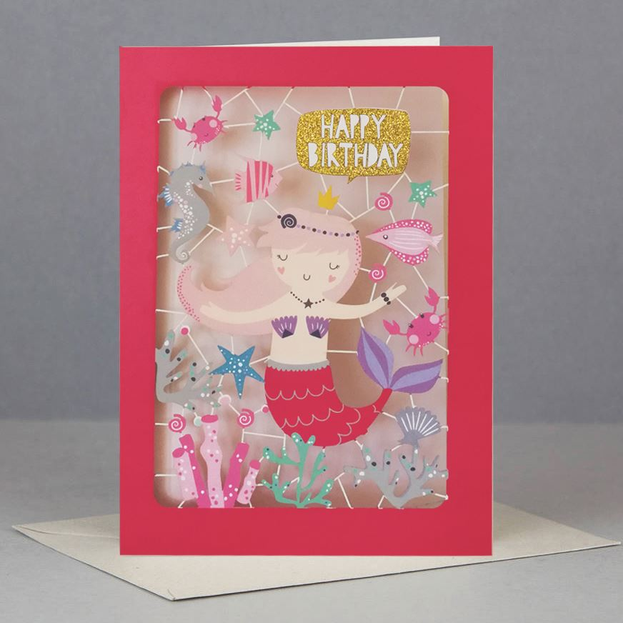 Mermaid Kids Birthday Card