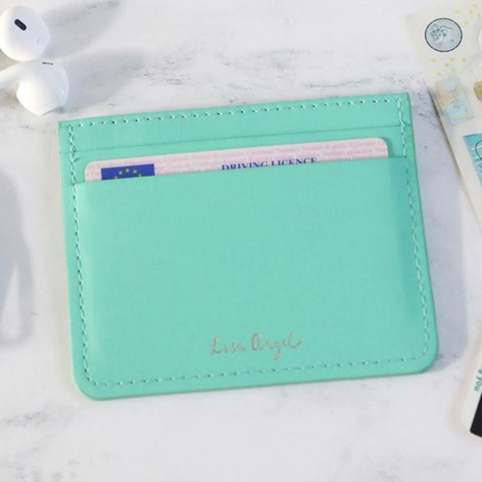 Turquoise Green Card Holder
