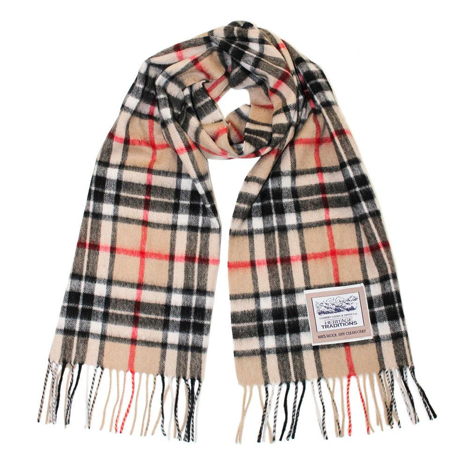 Camel Thomson Heritage Traditions Scarf