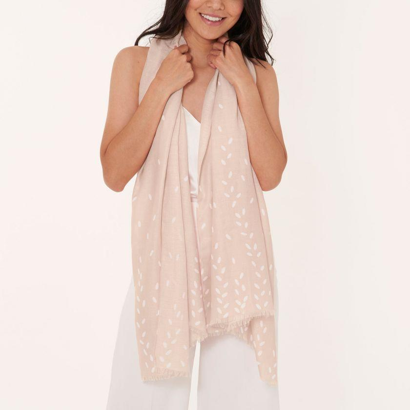 Nude Pink Wrapped Up In Love Boxed Scarf