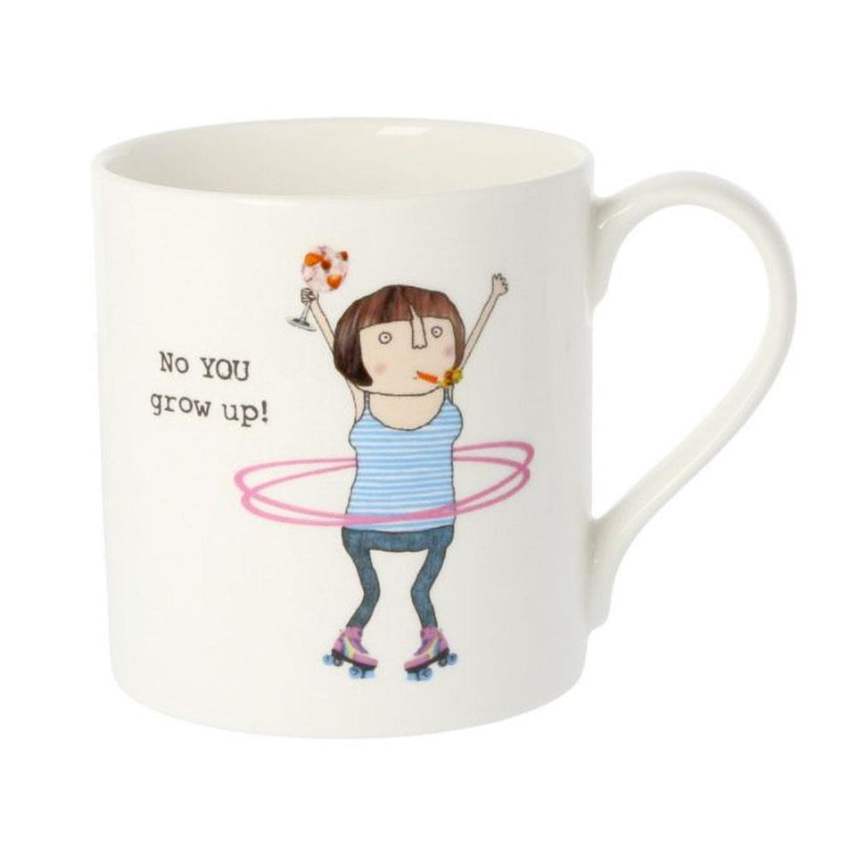 Grow Up Collage Illustration Bone China Mug