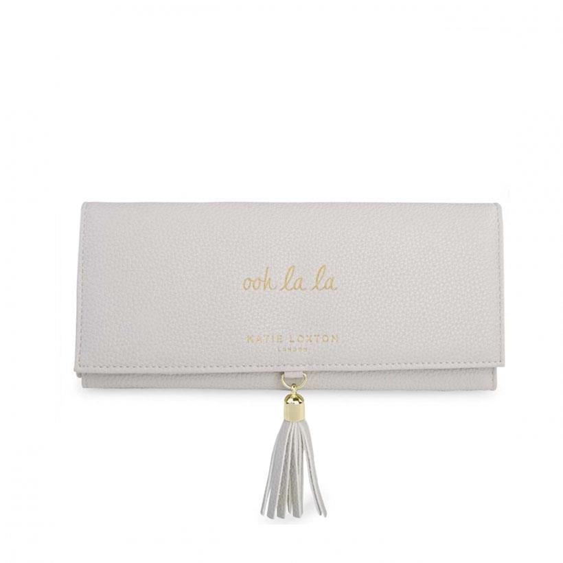Ooh La La Grey Tassel Jewellery Roll