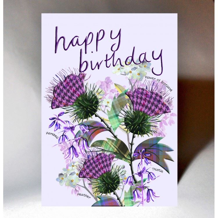 Thistle Birthday Card